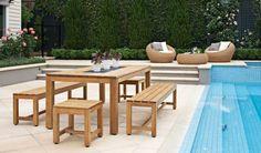 Dublin Rectangular Table + Dublin Bench