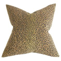 subtle leopard print throw pillow