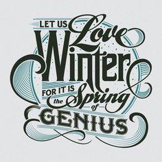 Winter Letterpress Calendar Card by Bryan Todd, via Behance