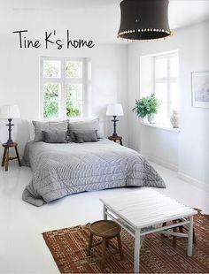 Life as a moodboard: Scandinavian style - Tine Kjeldsen's home Decor, Home Bedroom, Bedroom Interior, Grey Bedding, Bedroom Design, Cozy Bedroom, Bedroom Decor, Home Decor, House Interior