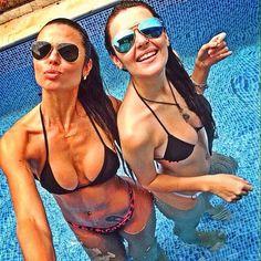 Instagram media by vivibikini - Cada vez mais parceiras, e só ficarmos juntas que é risada,bagunça e muita conversa , muito bom ser mãe cedao ...assim acompanho seu crescimento sem ser careta ❤️✨ my love @laaripadovani #maefilha