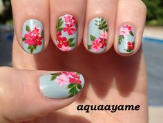Choose Nail Art Designs That Fit Your Life Flower Nail Designs, Pink Nail Designs, Nails Design, Design Design, Gel Nagel Design, Nail Designs Pictures, Floral Nail Art, Nagel Gel, Halloween Nail Art
