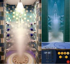 Ultimate shower - 18 heads... I need this. Everytime I shower with my boyfriend I always feel like one of us or both of us are missing out on the experience of hot water. This would be Awesome to have!