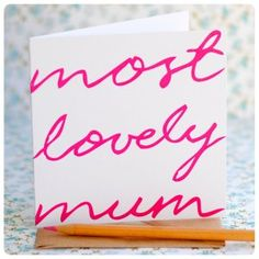 Mother's Day Hand Lettered Card