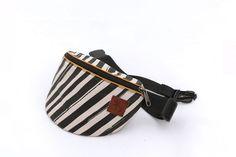 Fanny pack, bum bag, hip bag, waist bag, festival, concert, travelling bag, designer stripes print by delikates on Etsy