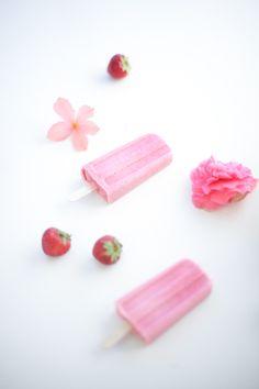 Strawberry Buttermilk Popsicles