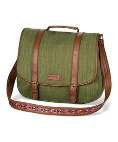 Loving this Olive Messenger Bag