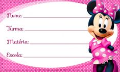 Papel Sticker, Minnie Mouse, Spiderman, Diy And Crafts, Stickers, School, Tags, Labels For Kids, Kids Labels