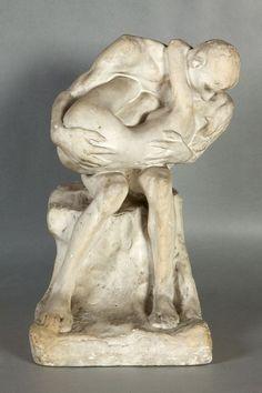 Gustav Vigeland;  plaster model for a glorious bronze