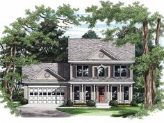 Eplans Farmhouse House Plan - Classic Family Design - 1399 Square Feet and 3 Bedrooms from Eplans - House Plan Code HWEPL08187