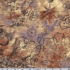 old world fabric for quilts/Would love to do this for a throw or something in the office!