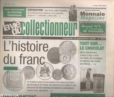 La vie du collectionneur n° 427 année 2002 - l'histoire du franc