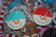 Christmas Sugar Cookies decorated with fondant - by Razzberry Cakes