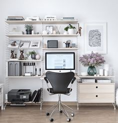 9 Home offices that will inspire you to create your own. DIY office   office organization   office makeover   Small office   work from home   chic office   interior design office   home office decor