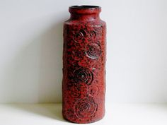 Tall Mid Century Scheurich keramik ceramic by vintage2remember, €85.00
