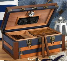 honestly.. obsessed with this humidor. Love how it looks like an old suitcase.. great size too to hold cigars.