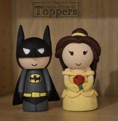 Beauty and the Beast Belle Disney Inspired Wedding Cake Topper Batman Cake Topper, Superhero Cake Toppers, Disney Cake Toppers, Disney Cakes, Superhero Party, Wedding Cake Toppers, Wedding Cakes, Wedding Prep, Our Wedding