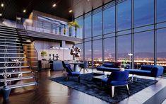 Dream Apartment, Apartment Interior Design, Penthouse Apartment, Room Interior, New York Apartment Luxury, Appartement Design, Luxury Penthouse, Penthouse London, Luxury Condo