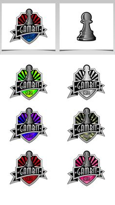 Create an agressive and clean logo using a pawn chess piece for Gambit Glass (smoke shop) by Fayth