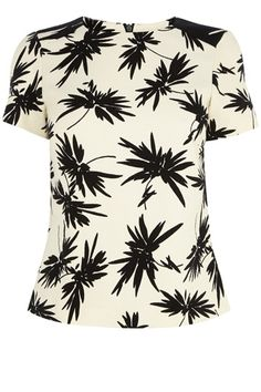 Oasis Mono Palm Print Top (Multi) by: Oasis