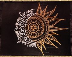 11x14 CUSTOM Painted Canvas -- Live By The Sun, Love By The Moon
