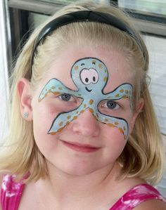 Face painting octopus