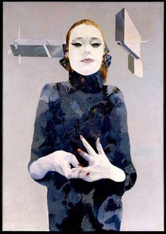 """Renzo Vespignani, """"Netta"""", 1967, olio, collezione privata."""