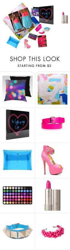 """""""neon dances"""" by tobash21 ❤ liked on Polyvore featuring WALL, Dukes, BHCosmetics, Ilia, Valentino, Ted Baker, neon and julyissuu"""