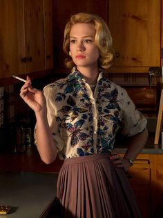 Love her blouse. January Jones as Betty Draper was stunning...