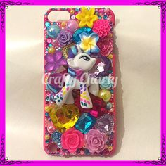 """Pony Pride"" iPod Touch case featuring rainbowfied Rarity! For my little sisters new iPod, what do you think?x #craftycharly #barnsley #madeinyorkshire #handmade #decoden #mylittlepony #mlp #ipodcase #newmakes"