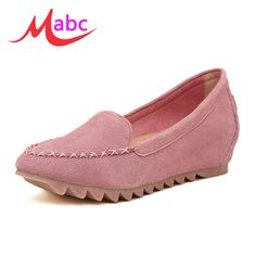 Find More Women's Casual Shoes Information about High Quality Brand Women flat shoes Genuine Leather Spring Autumn Casual Shoes Woman Loafers Height increasing women Flats BJ218,High Quality shoe sandal,China shoes retro Suppliers, Cheap shoe scarf from RA Brand Fashion shoes on Aliexpress.com