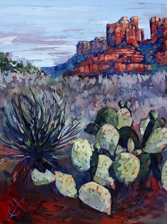 Sedona Oil Painting by Erin Hanson