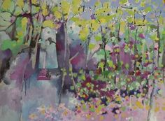 "Saatchi Art Artist Anne D Ducrot; Painting, ""It was a cabin in the woods…."" #art"