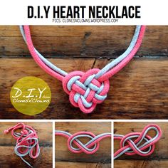DIY Celtic Knot Heart Necklace