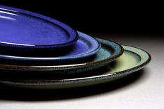 Willow Creek Pottery  Dinner plate in four glazes