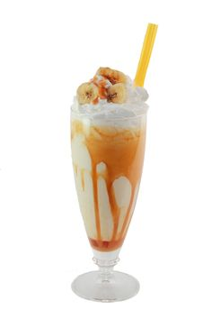 Banana and Salted Caramel Milkshake