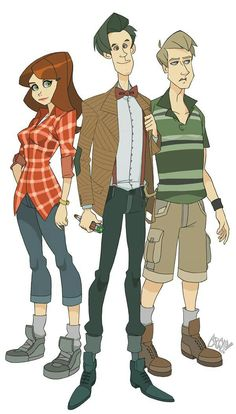 Doctor 11 With Amy and Rory.