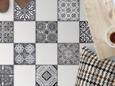 Fiesenaufkleber für den Boden - Design: Black n White