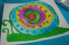 Pink and Green Mama: Elmer's Glue Rainbow Glue - ReCycle Those Half-Empty Glue Bottles! Glue Art, Elmer's Glue, Kindergarten Art Lessons, Art Lessons Elementary, Painting For Kids, Art For Kids, Spring Art Projects, Collage, Hand Art