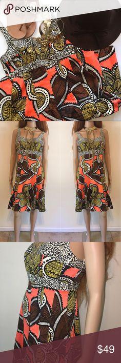 🌸 Beautiful Safari Print Fit & Flare Dress 🌸 Beautiful Safari Print Fit & Flare Dress. Dress has invisible zipper back closure. Nine West Dresses Midi