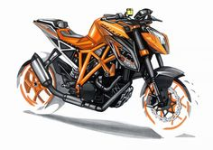 sketches by Berkay Yazici Bike Sketch, Car Sketch, Motorbike Design, Power Bike, Bike Style, Bike Art, Sketch Design, Automotive Design, Concept Cars