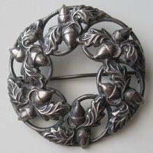 Vintage Sterling Danecraft Acorn & Oak Leaf Brooch