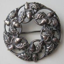 Vintage Sterling Danecraft Acorn & Oak Leaf Brooch