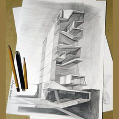 Roy and Diana Vagelos Education Center in by Diller Scofidio + Renfro Sketch by ________________________________ . Tag your archi. Parametric Architecture, Contemporary Architecture, Beautiful Buildings, Beautiful Landscapes, Ny Map, Building Sketch, Archi Design, Education Center, Life Is Beautiful