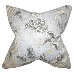 Bring whimsical appeal to your reading nook arm chair or master suite chaise with this lovely pillow, showcasing an elegant botanical motif and feather-down ...