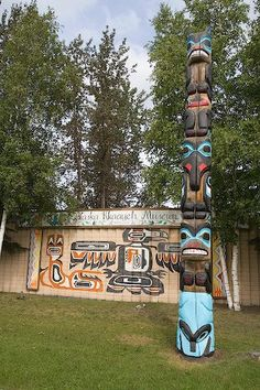 picture of Native Art Pioneer Park Display Fairbanks Alaska Image