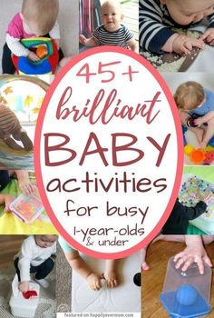 YES! This list is exactly what I was looking for. It's got ideas for baby art, games, and sensory play that I can do at home with my little one. There's cute ideas for three month olds in there, but I love that I can use this list up to toddlerhood too. M