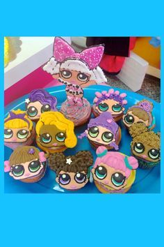 LOL Surprise Dolls birthday cupcakes with Diva