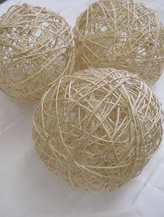 Homemade Decorative Balls Make Your Own Decorative Twine Balls For Wedding Or Home Decor