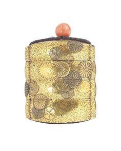 A three-case gold lacquer inro Edo period (1615-1868), 19th century